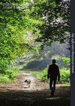Man, Walk, Dog