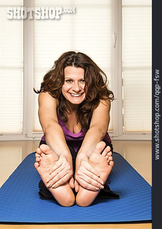 Woman, Sports & Fitness, Stretching