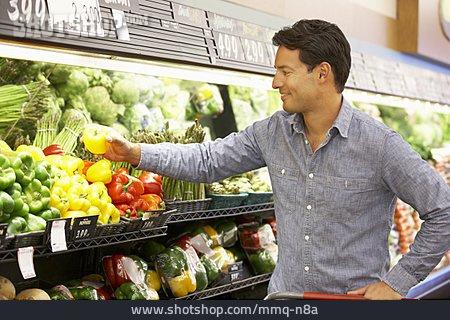 Man, Shopping, Supermarket, Customer