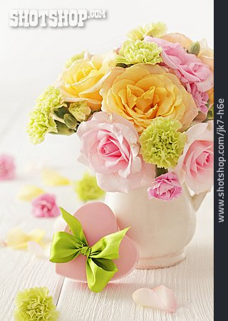 Bouquet, Gift, Mothers Day, Flower Vase