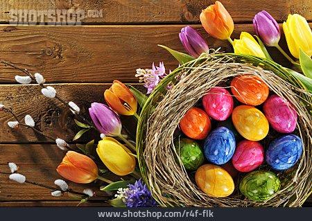 Easter Egg, Easter Nest, Easter Decoration, Tulips