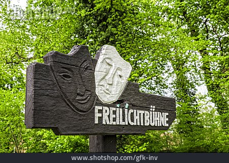 Information Sign, Theater, Outdoor Stage