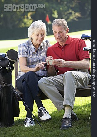 Hobbies, Golf Course, Older Couple
