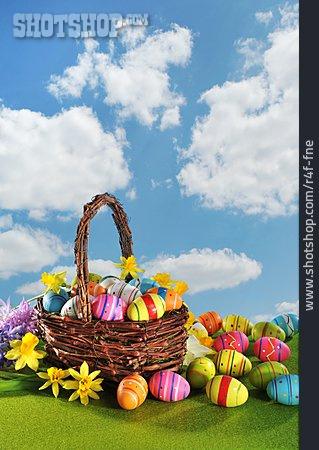 Flowers, Easter Egg, Easter Basket