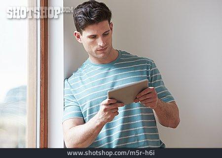 Man, Mobile Communication, Internet, Tablet-pc