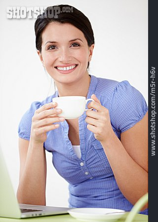 Woman, Cup, Coffee Drink