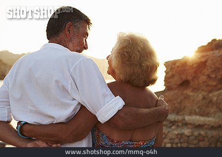 Couple, Summer Vacation, Older Couple