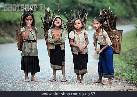 Children, Residents, Laos