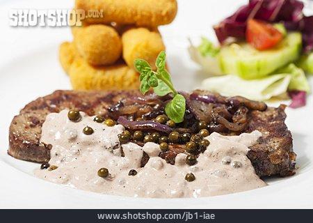 Rumpsteak, French Cuisine, Pepper Sauce