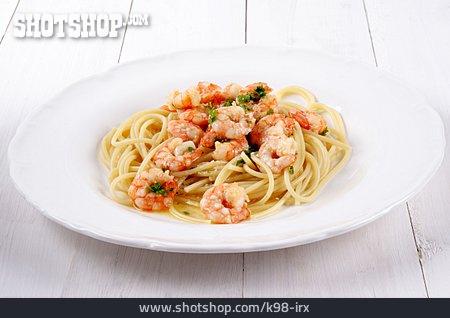 Seafood, Scampi, Spaghetti