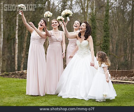 Wedding, Bridal Bouquet, Bridesmaid