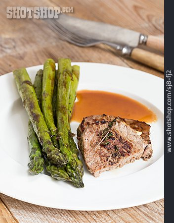 Asparagus, Beef Steak, Asparagus
