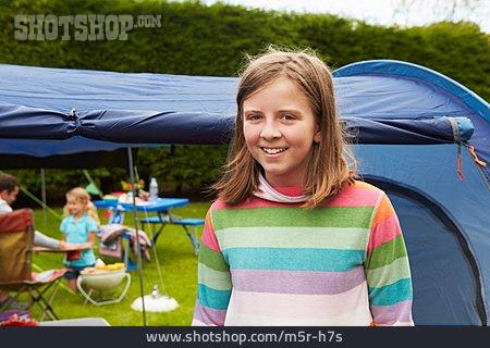 Girl, Camping