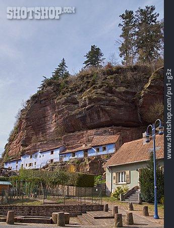 House, Rocks, Alsace, Rock House