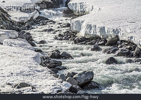 Torrent, Ice Floes, Snow Melt