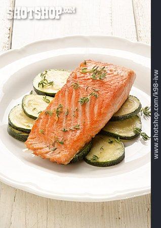 Salmon, Lunch, Salmon Fillet