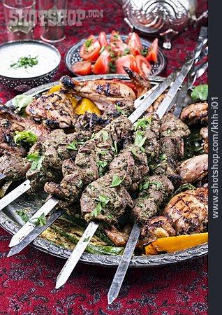 Skewer, Grilled Meat, Kebab, Meat Dish, Turkish Cuisine