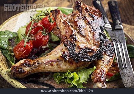 Chicken Thigh, Bbq Chicken, Grilled Vegetables