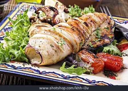 Squid, Antipasto, Fish Dish, Calamari