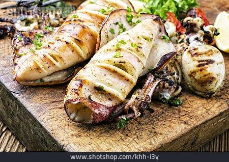 Seafood, Squid, Greek Cuisine, Calamari