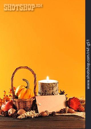 Copy Space, Still Life, Autumn Decoration, Thanksgiving