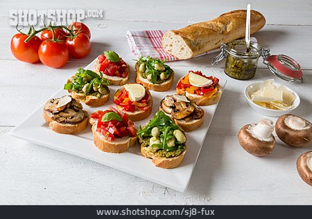 Vegetarian, Bruschetta