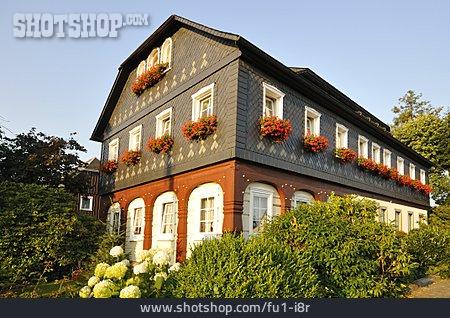 Rural Scene, Umgebindehaus, Wehrsdorf