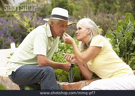 Herb, Gardening, Older Couple