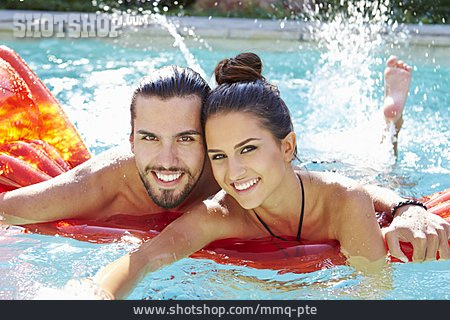 Couple, Swim, Paddle, Beach Holiday