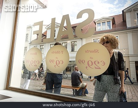 Purchase & Shopping, Window Display, Sale