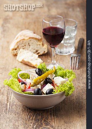 Greek Salad, Feta Cheese, Mediterranean Cuisine
