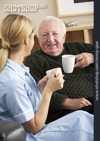 Senior, Coffee, Nursing Home , Caregiver, Home Visit