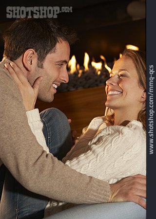 Love Couple, Fireplace, Living Room, Date