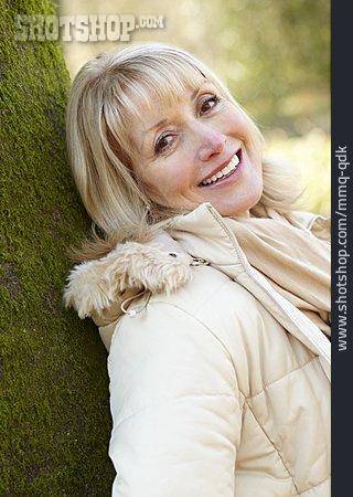 Woman, Senior, Autumn