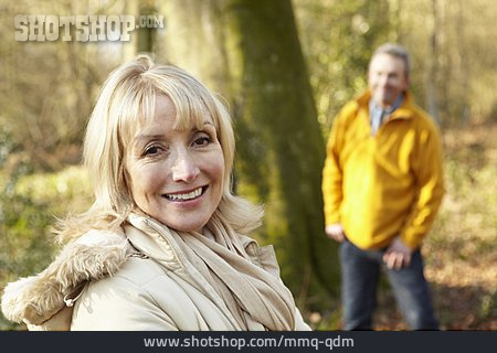 Season, Walk, Older Couple