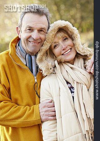 Affection, Walk, Older Couple