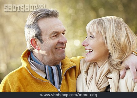 Love, Affection, Season, Walk, Older Couple