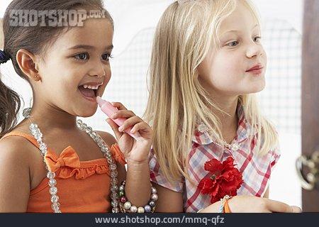 Girl, Childhood, Makeup