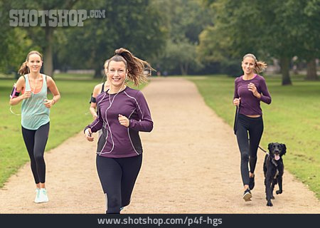 Dog, Running, Woman Runner