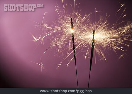 New Years Eve, Sparkler, Flying Sparks