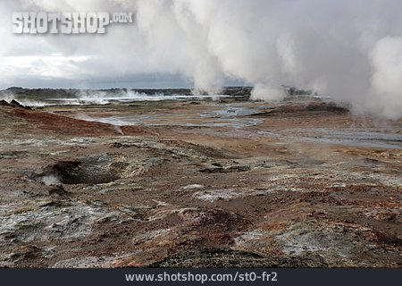 Water Vapor, Fumarole, Gunnuhver, High Temperature Fields