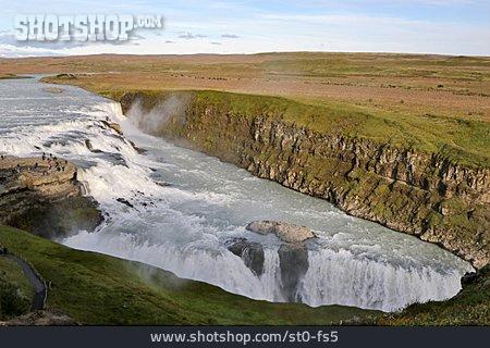 Iceland, Golden Circle, Nature, Gullfoss