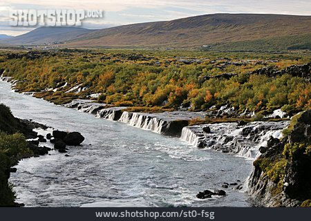 Waterfall, Iceland, Hraunfossar