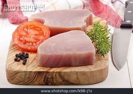 Tuna, Fillet, Filet Of Tuna