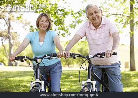 Active Seniors, Cyclists, Couple