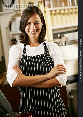 Cafe, Checkout, Female Shop Owner
