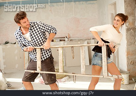 Couple, Building Construction, Remodeling, Home Improvement