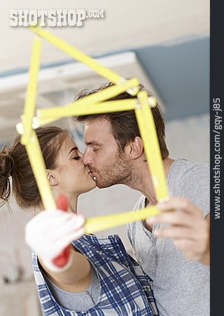 Couple, Building Construction, Real Estate, Remodeling