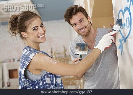 Couple, Loving, Delete, Paint