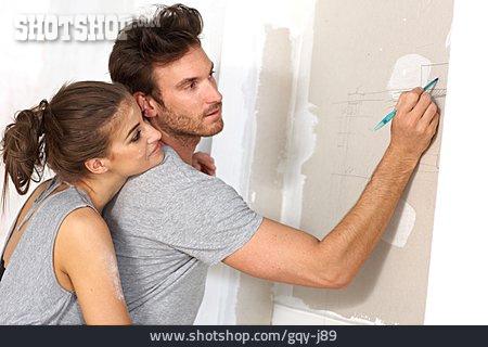 Couple, Building Construction, Real Estate, Reconstruction